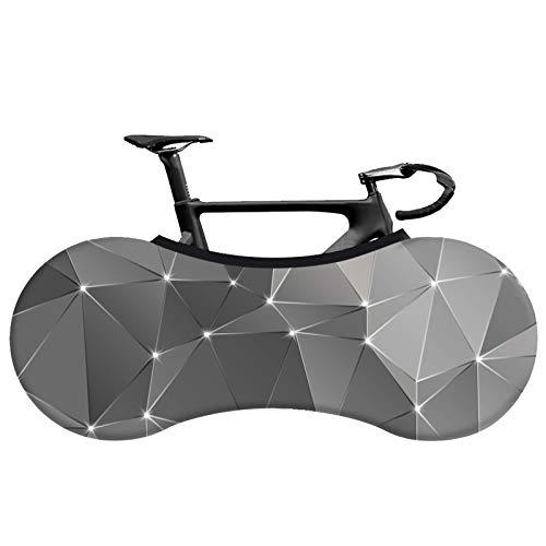 Cubierta De La Rueda De La Cubierta Del Polvo De La Bicicleta, Cubierta Del Polvo De La Cubierta De La Bicicleta De MontañA Del PatróN GeoméTrico 3D, Mantiene El Piso Y La Pared Limpios,#13,160*55cm