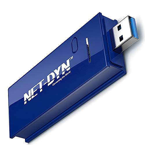 NET-DYN USB Wireless WiFi Adapter,AC1200 Dual Band , 5GHz and 2.4GHZ (867Mbps/300Mbps), Super Strength So You Can Say Bye to Buffering, for PC or Mac, for Desktop or Laptop