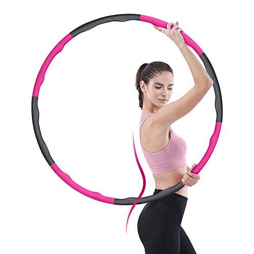 Hula Hoop Reifen zur Gewichtsreduktion - Erwachsene Kinder Gewichteter Hula Hoop mit Schaumstoff, 8 Abnehmbare Abschnitte Fitness Reifen Bauchformung für Fettverbrennung Tanzen Yoga Fitness