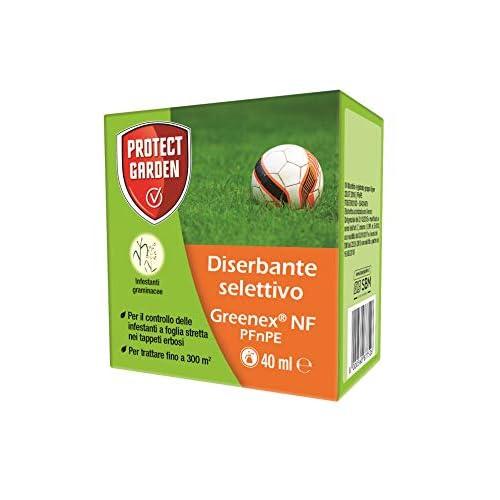 Greenex NF PFnPE Diserbante Selettivo per Tappeto Erboso 40 Ml Infestanti Graminacee
