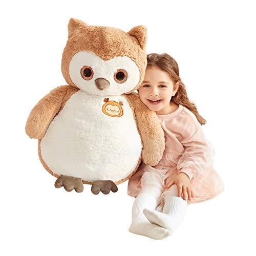 IKASA Búho gigante de peluche de animales Jumbo Owl Soft Toys (marrón, 60 cm)