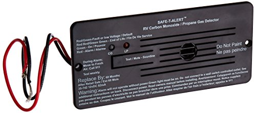 Safe-T-Alert by MTI Industries 35-742-BL Dual LP/CO Alarm - 12V, 35 Series Flush Mount, Black