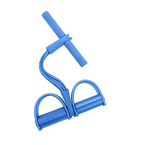 Entrenador abdominal, ampliadores de culturismo Bandas de resistencia a piernas multifuncionales Equipo de entrenamiento de la cuerda de arrastre para el hogar Equipos de ejercicios para el hogar,Azul
