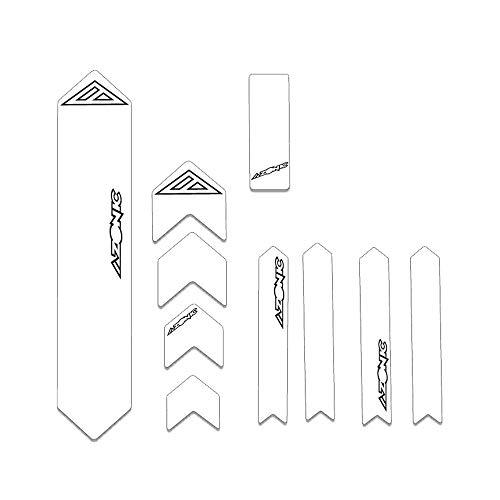 AZONIC MTB Frame Protector Clear | Protezione del Telaio della Bicicletta con Speciale Profilo a Diamante| Frameguard| Adatto per Mountain Bike, Trekking, e-Bike, BMX Bike e Molti Altri