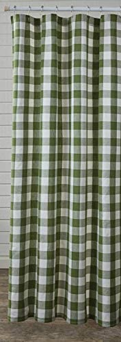 Max 63% OFF Park Designs Wicklow Sage Buffalo Check Curtain Challenge the lowest price of Japan Shower 72''x72''
