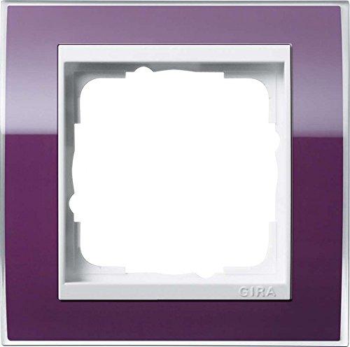 Gira 0211753 Abdeckrahmen 1-Fach für reinweiß Event klar, aubergine