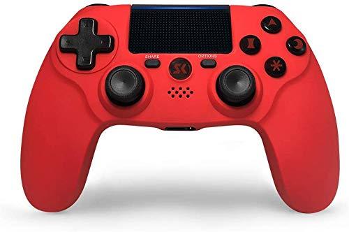 Kabelloser Controller für PS4-Controller, doppelte Vibration, für PlayStation 4-Controller, Gamepads mit sechs Achsen, Joysticks für PS4/Pro/Silm/PC (rot)