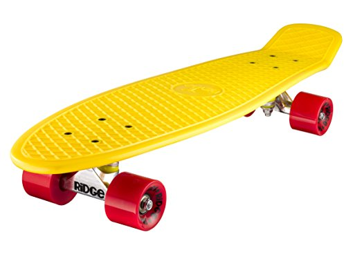 Ridge - Skateboard Big Brother Nickel Mini Skate Cruiser Giallo...