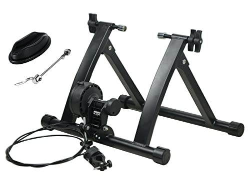 Entrenador Ejercicio Bicicleta Soporte Interior Portátil Magnético 6 Nivel Resistencia Entrenamiento
