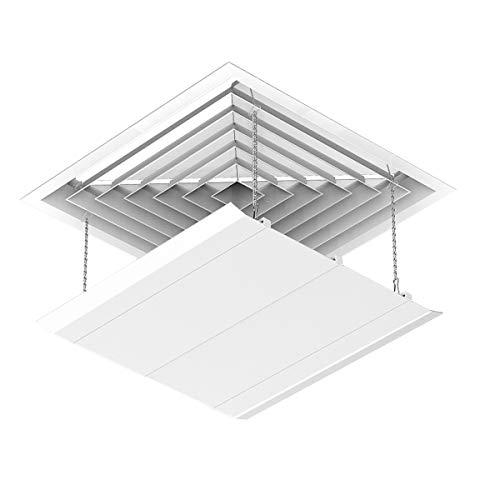 エアコン風よけカバー エアコンルーバー 風よけ 風避け 冷房 暖房 風向き調整 風の直撃防止 壁に穴あけ不要 多機種対応 取り付け簡単(45*45CM 1枚入り)