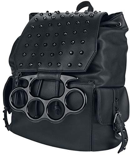 Vixxsin Backstreet Bag Frauen Rucksack schwarz Polyester, PVC Biker, Gothic, Nu Goth, Punk, Rockwear