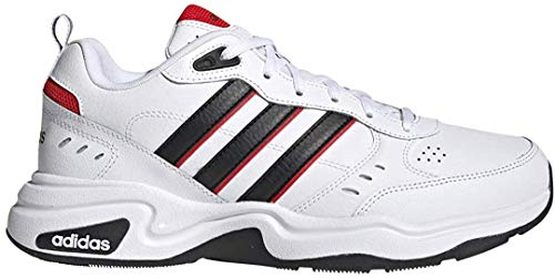 adidas Men's Strutter Wide Fit Classic Lifestyle Sneakers Shoes,ftwr White/core Black/active Red, 7.5 M US Wide