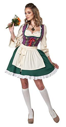 California Costumes Beer Garden Girl Adult Costume, Small Purple/Green
