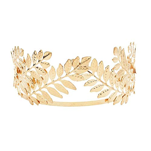 Turbantes Headband Diademas para Mujer Turbantes Diadema Nupcial para La Frente, Diadema, Coronas, Metal Dorado, Diseño