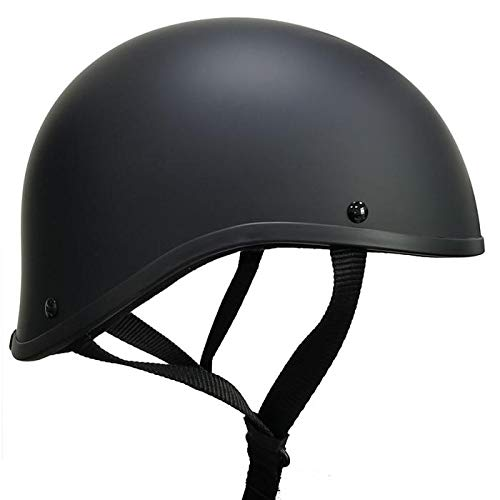 bikerhelmets.com Crazy ALS Maltese SOA Worlds Smallest Helmet in Large (Flat Black, l) for 23 1/4 inch to 23 and 5/8 inch Head Size.