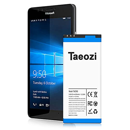 Nokia Lumia 950 Battery, 3200mAh Li-ion Replacement Batteries for Microsoft Nokia Lumia 950 RM-1106 RM-1104, BV-T5E Spare Battery