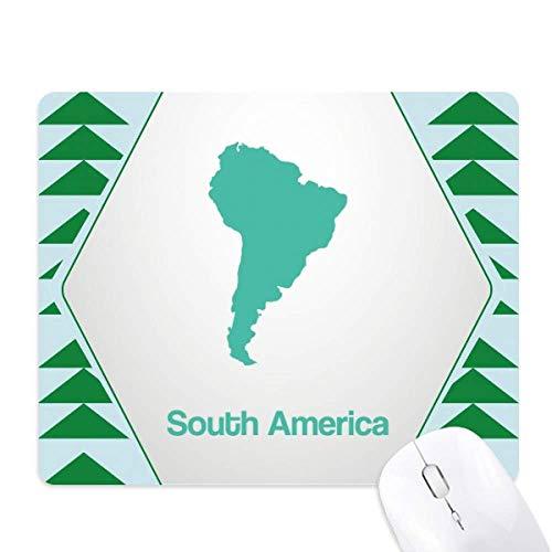 Groen Zuid-Amerika Illustratie Kaart Muis Pad Groen Pijnboom Rubber Mat
