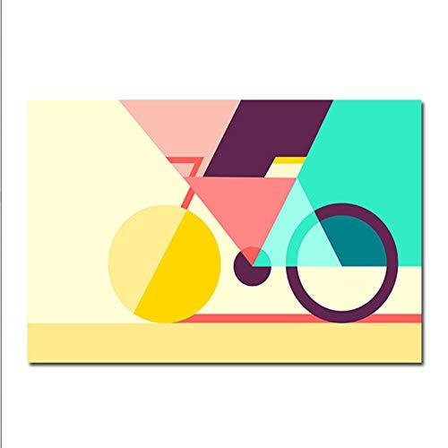 Muur Foto 'S Voor Woonkamer Interieur Abstracte Canvas Art Geometrische Fiets Posters En Prints Nordic Creatieve Geometrie Fiets 20X30 CM Geen Frame