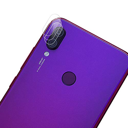 ROVLAK Cámara Protector de Pantalla para Xiaomi Redmi Note 7 Cámara Cristal Templado Protector 3-Pack 9H Anti-explosión Anti-rasguños Cámara Lens Protector para Xiaomi Redmi Note 7