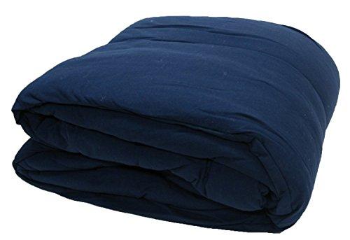 Gilbin 100% Cotton Jersey Knit Comforter - Twin Size - Navy