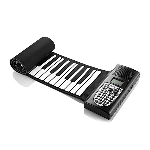Best Bargain Portable Piano 49-key Silicone Portable Flexible Collapsible Roll Electronic Soft Keybo...