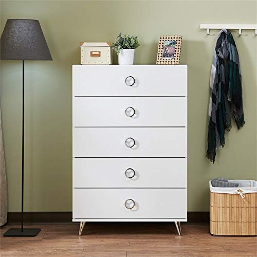 Yileiduo , 5 Drawer Storage Chest in White