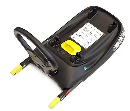 PETEX Base ISOFIX 44470104 compatible con portabebés de 10 piezas para cochecito de bebé'Multi-Traveller', negro, 7 kg