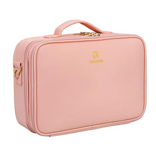 MONSTINA Make-up-Koffer, Reise-Make-up-Tasche mit Frauen, Make-up-Organizer und tragbare Make-up-Tasche für Kosmetika, Schmuck, Make-up-Pinsel), 006