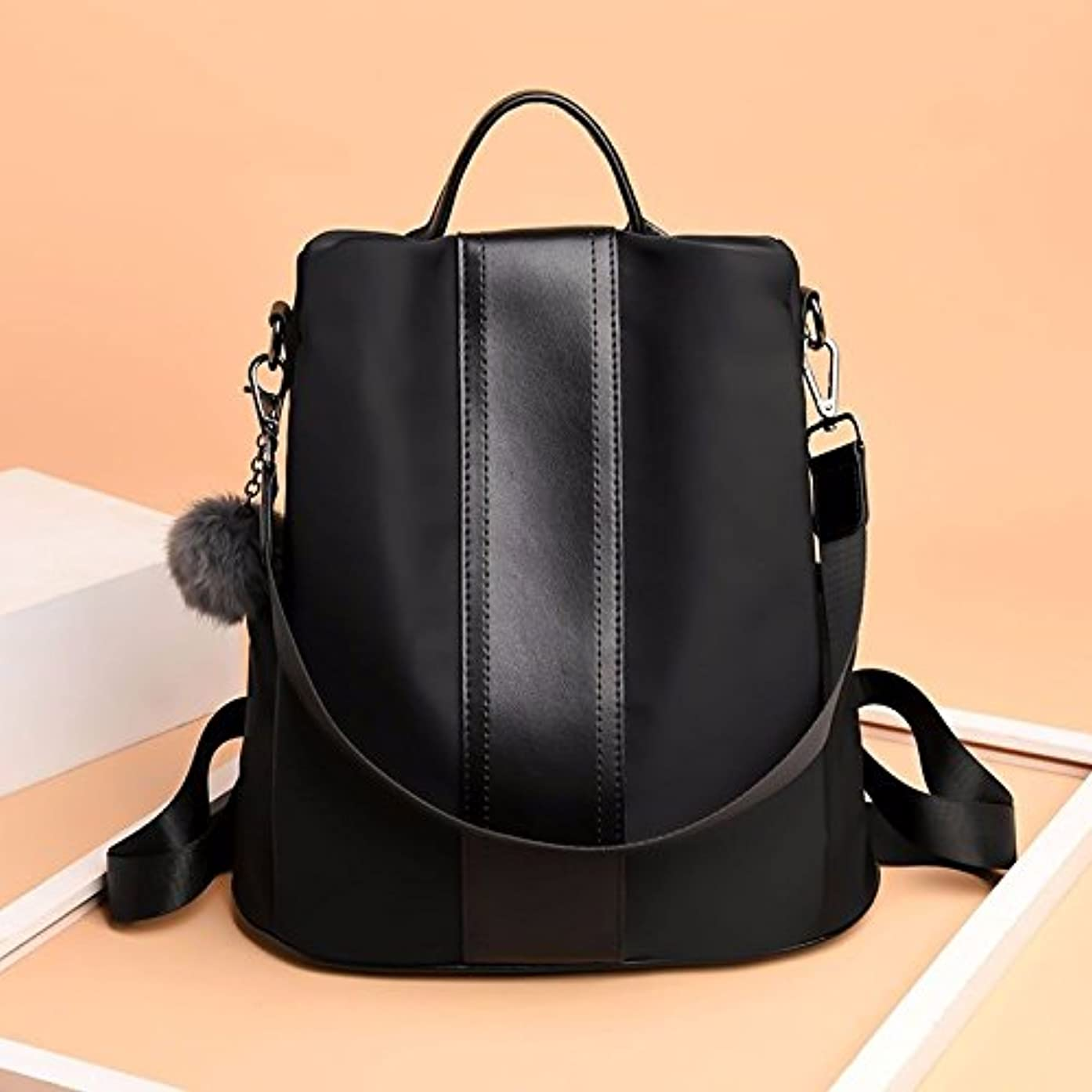 BMKWSG PU Leather Backpack Casual Daypack for Women/Girls Black