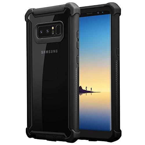 Cadorabo Funda para Samsung Galaxy Note 8 en Negro Aliso -2-en-1 Cubierta con Borde Silicona TPU y Espalda Acrílico - Case Cover Carcasa Protectora Ligera