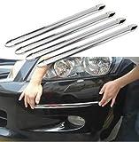 Anzene 4 Stück Schutzleiste für Stoßstangen zum Aufkleben, Aufprallschutz für Autos, gegen Abreiben