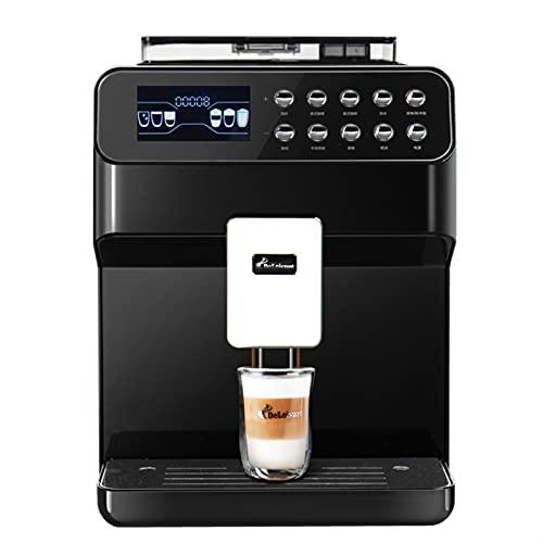 HMBB Automatyczny ekspres do kawy Espresso,ekspres do kawy z ciśnieniami 19 bar,młynka do kawy,do napojów Cafe Americano,Latte i Cappuccino,czarny,biały (Color : Black)