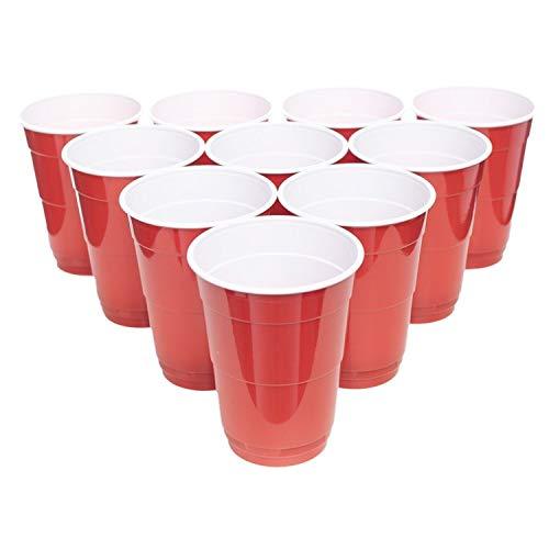 16 oz. ( ca. 475 ml ) Rote Party Cups sehr Stabile Wiederverwendbare Rote Becher. Original Beerpong Becher der Marke MyBeerpong (50)