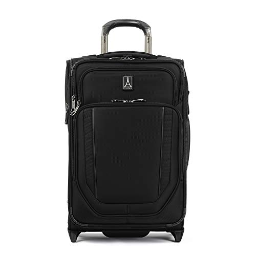 Travelpro Crew Versapack - Softside Expandable Upright Luggage, Jet Black, Carry-On 19-Inch