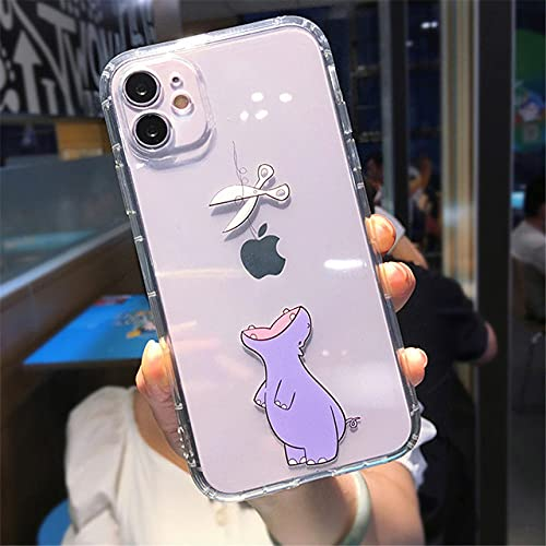 LIUYAWEI para iPhone 11 Creativity Soft Phone Case para iPhone 11 Pro MAX XS MAX XR X 7 8 Plus Dinosaurio Contraportada Transparente a Prueba de Golpes, T2, para iPhone XS