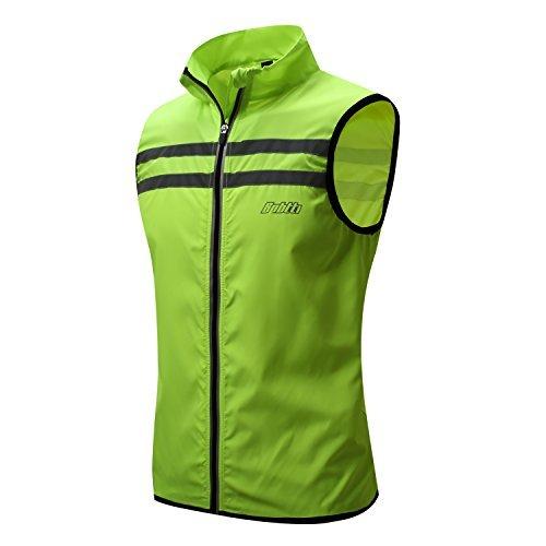 bpbtti Men's Hi-Viz Safety Running Cycling Vest Sleeveless Windbreaker vests- Windproof and Reflective (X-Large - Chest 46-49',...