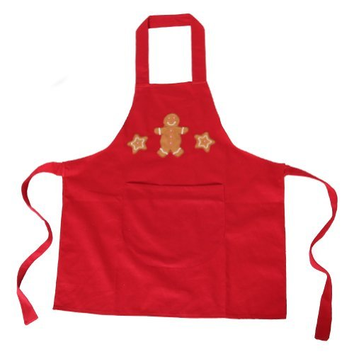 Making Believe Red Gingerbread Boy Cooking Apron