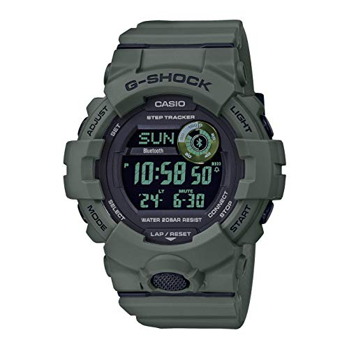 CASIO Herren Digital Quarz Uhr mit Resin Armband GBD-800UC-3ER
