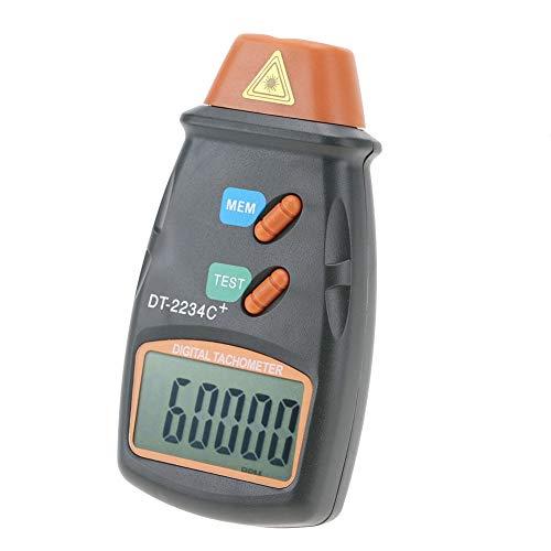 Digitaler Drehzahlmesser, DT-2234C + Berührungsloser digitaler LCD-Fototachometer Mini RPM Tester Meter Klare LCD-Anzeige, hohe Messgenauigkeit