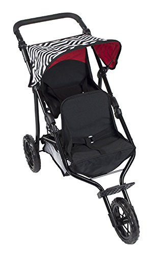 Deluxe Double Jogger Stroller With Adjustable Handle