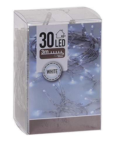 Spetebo LED Lichterkette mit 30 LED und Timer - batteriebetrieben - Farbe: kaltweiss