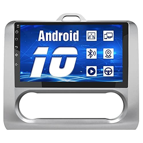 AWESAFE Android 10.0 [2GB+32GB] Radio Pantalla para Ford Focus Mk2 2004-2011 con 9 Pulgadas Pantalla Táctil para Coche, Autoradio con Bluetooth/GPS/FM/WiFi/USB/RCA, Apoyo Mandos Volante, Aparcamiento