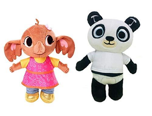 Binbinbong Bing Peluche Serie TV Coppia: Sula E Pando Peluche H.25-28 Elefante Panda
