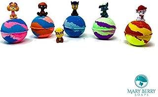 Five Pet Hero Surprise Bath Bomb Birthday Favor Set Inspired Kids Bath Bombs Mini Figure Gift Set with Surprise Toy Figure Inside
