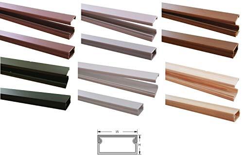 1m Kabelkanal 19,1x11mm (Außenmaß) versch. Farben selbstklebend (Verbinder verfügbar), Farbe:Dunkelbraun Meliert