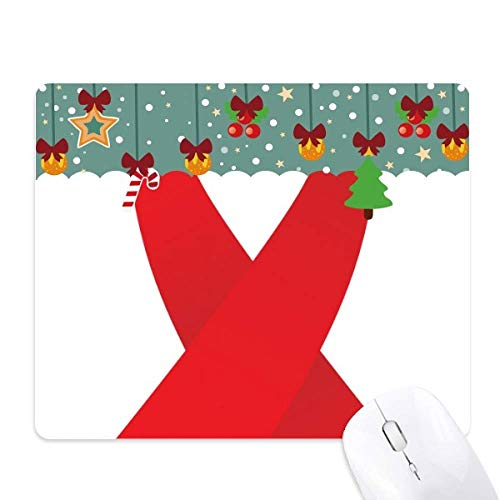 Rood lint hiv bewustzijn wereld aids dag muis pad spel office mat kerst rubber pad