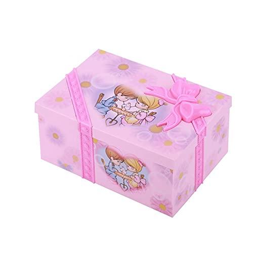 ZYING Zore Caja de música de Chica Bailando Rosa Adornos de la decoración del hogar Organizador de la joyería organizadora Caja de música