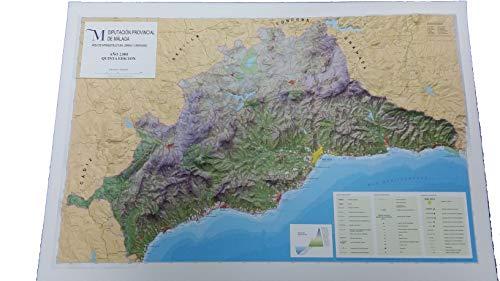 Mapa en relieve de Málaga: Escala 1:200.000