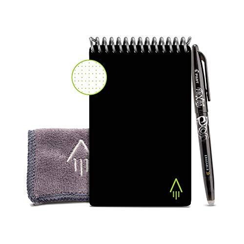 Rocketbook EVR-M-K Mini notebook riutilizzabile con Panno e Penna Inclusi, 8,9 cm x 14 cm, Nero (Infinity Black)