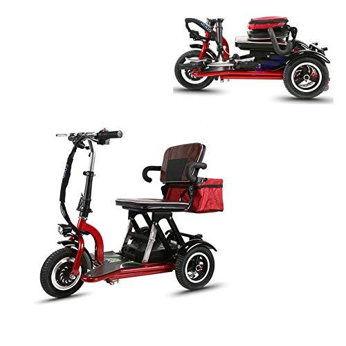 TTFC Scooter Minusvalidos,Scooter Eléctrico de 3 Ruedas,discapacitados, Desmontable, Manillar Plegable, Personas con Movilidad Reducida, Motor de 300W 40 km